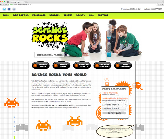 Science Rocks - Themed childrens parties