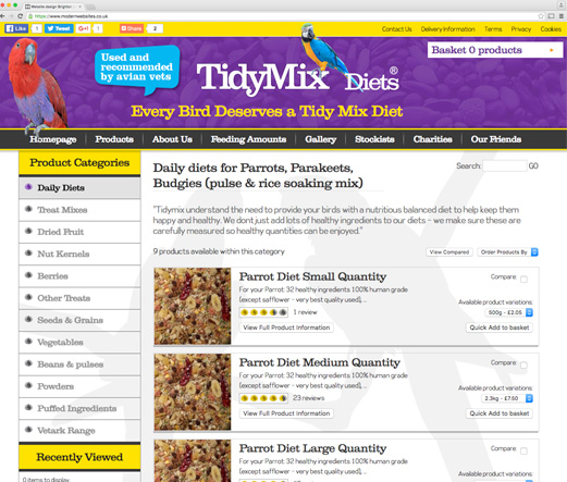 Tidy Mix Diets - Premium Bird Food Supplier