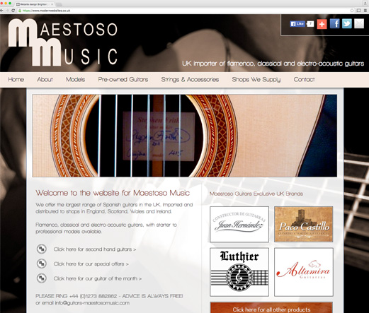 Importer of classical and acoustic guitars